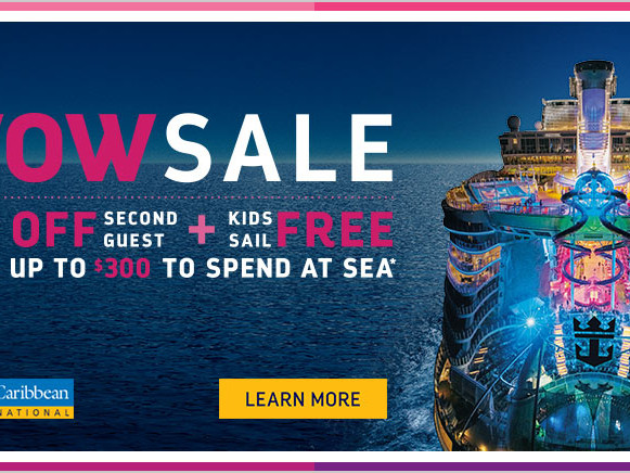 Royal Caribbean brings back Kids Sail Free with WOW Sale offer