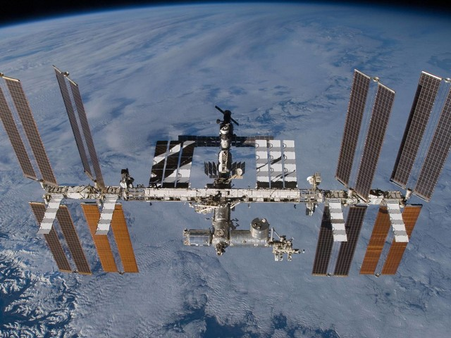 The International Space Station is surprisingly lush