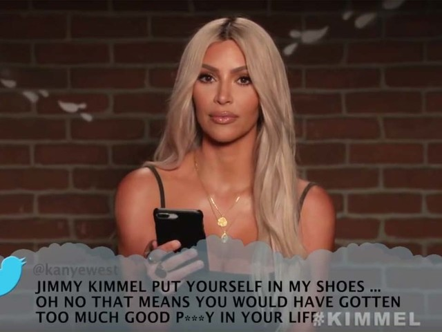 Kim Kardashian Reads Kanye West's 'Mean Tweet' for Jimmy Kimmel's Birthday - Watch Now!