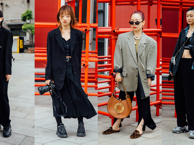 Blazers Were a Street Style Hit at Shanghai Fashion Week