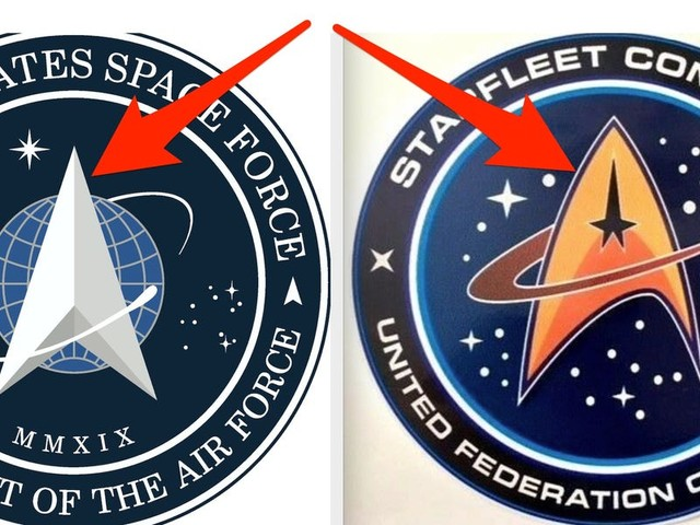 Trump's official unveiling of new Space Force logo is being mocked for looking like a 'Star Trek' rip-off