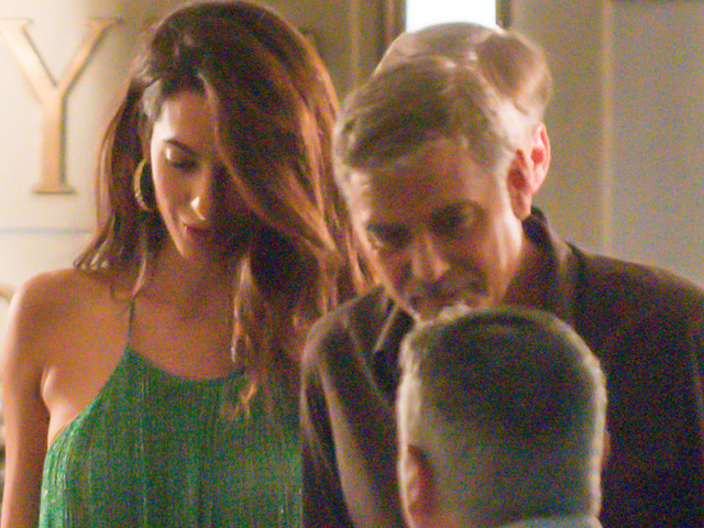 George & Amal Clooney Hit Harry's Bar During Italian Vacation
