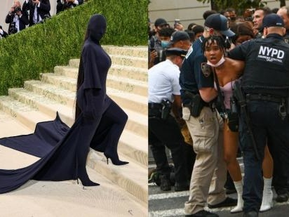 Black Lives Matter Protests Outside The Met Gala Is A Tale Of Two Very Different Americas