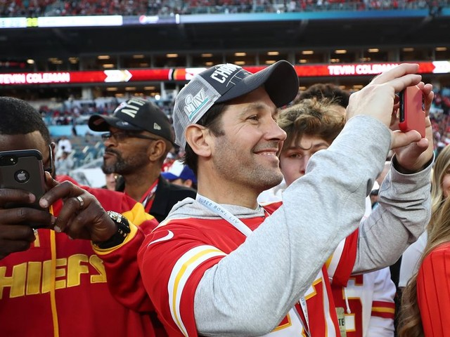 Chiefs superfan Paul Rudd is living his best life after Super Bowl 54