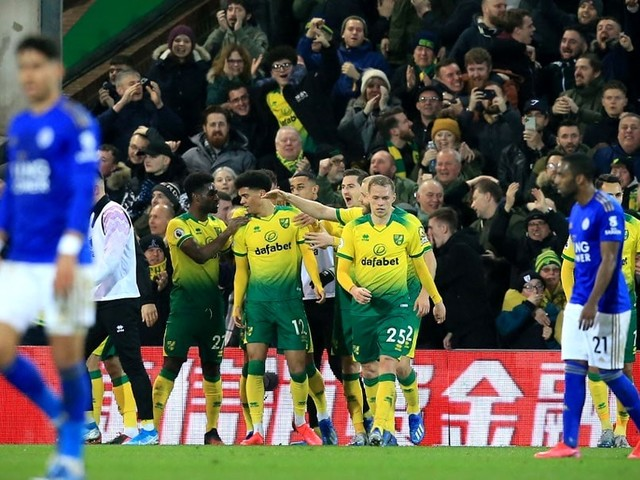 Lewis Sinks Leicester To Boost Norwich Survival Bid In Premier League