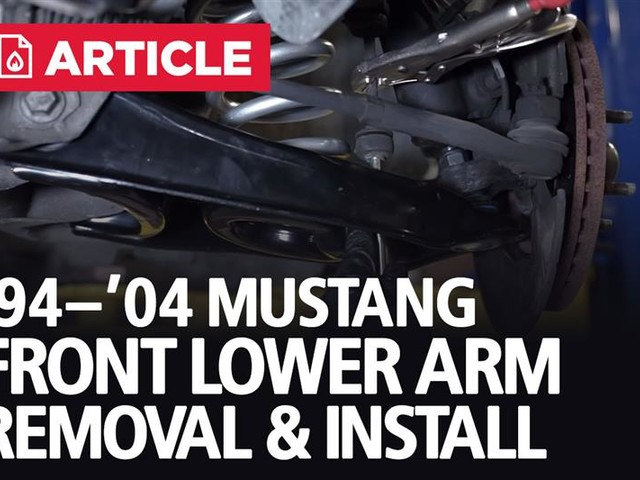 1994-2004 Mustang Front Lower Control Arm Kit Install