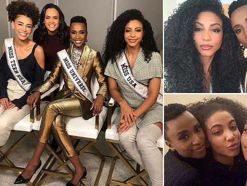 Miss Universe joins Miss USA and Miss America for a girls' night in NYC