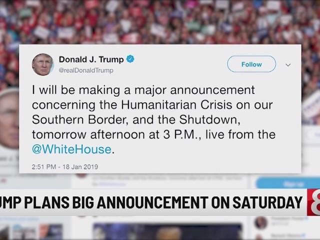 Trump plans 'major announcement' on border, longest shutdown