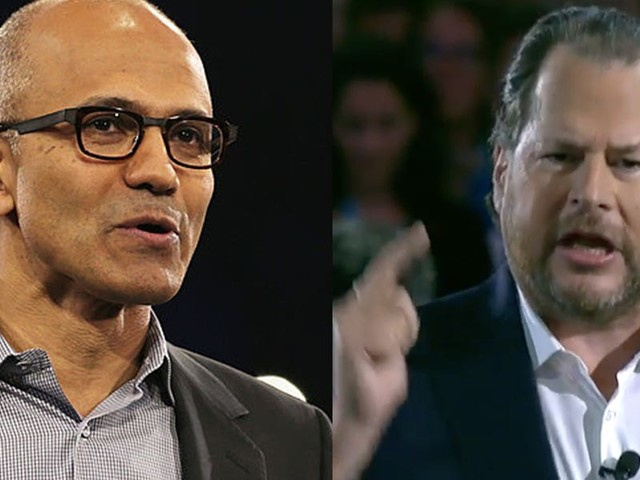 Microsoft and Salesforce have made love and war for 15 years. Here's a timeline of the rocky history between the tech heavyweights. (MSFT, CRM)