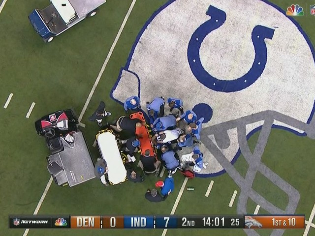Colts TE Brandon Williams released from hospital after scary injury on 'Thursday Night Football'