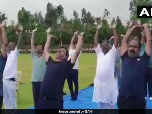 Yoga At Luxury Resort For BJP Lawmakers Waiting For Karnataka Floor Test