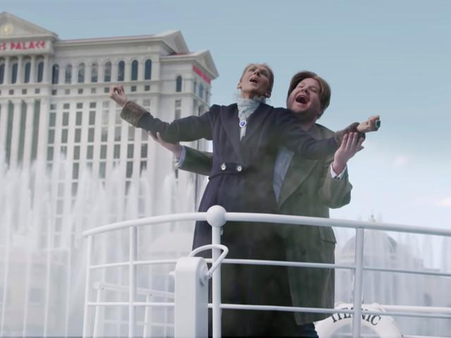 Celine Dion recreates 'Titanic' moment with James Corden