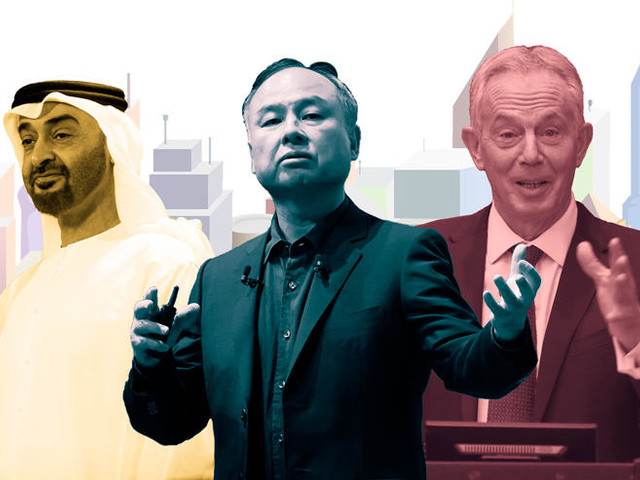 Masa Son, the crown prince of Dubai and Tony Blair walk into a bar and decide to build a $34B city in Asia