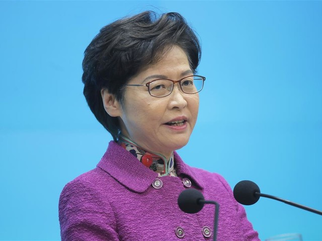 Carrie Lam: I Have Piles of Cash but No Bank Account
