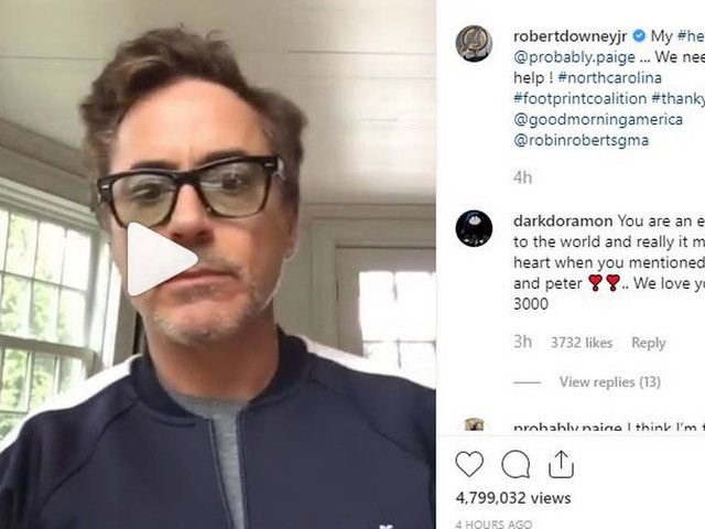 NC shark attack survivor and 'Iron Man' fan gets video surprise from Robert Downey Jr.