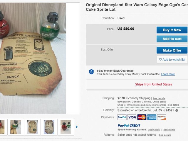 Guests are already reselling 'Star Wars: Galaxy's Edge' stuff on eBay