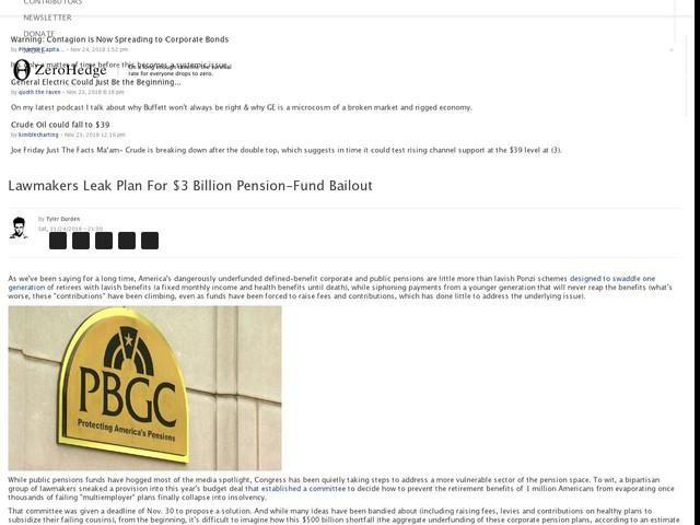 Lawmakers Leak Plan For $3 Billion Pension-Fund Bailout