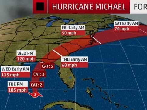 """Evacuations Ordered As """"Monstrous Hurricane"""" Michael Intensifies Into """"Most Powerful Storm In A Decade"""