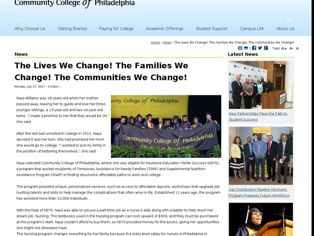The Lives We Change! The Families We Change! The Communities We Change!