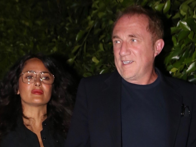 Salma Hayek & Husband Francois Henri Pinault Step Out on Date Night in Santa Monica