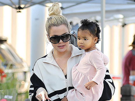 Khloe Kardashian & Daughter True Thompson, 1, Look Adorable As They Twin In Top Knot Buns