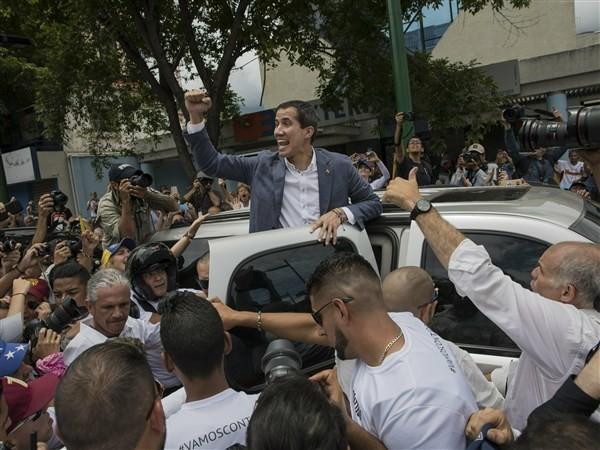 Guaido says U.S. should pressure Maduro to quit