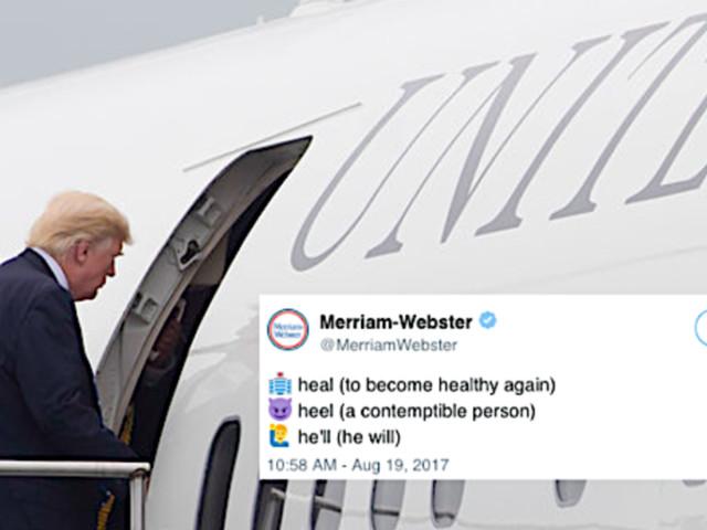 Merriam-Webster Steps In After Trump Tells America To 'Heel'