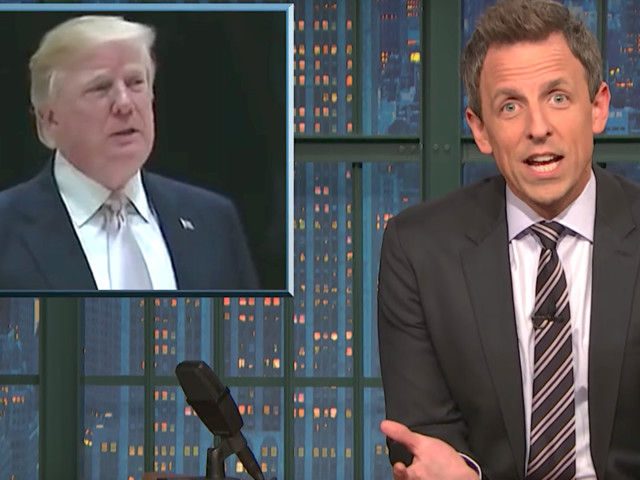 Seth Meyers Gives Donald Trump Advice About His 'Least Racist' Person Defense
