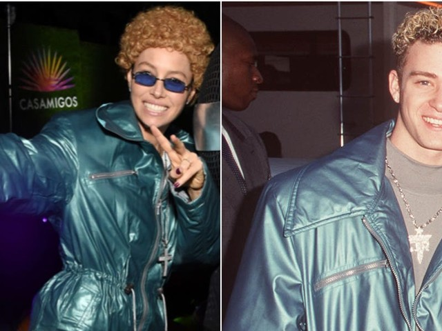 Jessica Biel dressed up as NSYNC-era Justin Timberlake for Halloween after Jimmy Fallon called her out for not knowing any of their songs