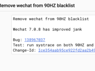 WeChat will soon support displaying at 90Hz on the Google Pixel 4