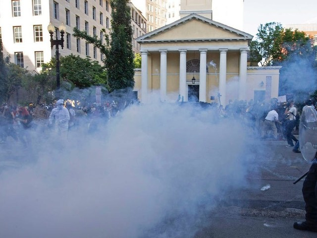 Trump claims the pepper balls and smoke canisters police fired at peaceful protesters aren't tear gas. The CDC disagrees.