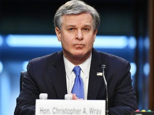 """FBI Director Wray Says Capitol Breach Was """"Domestic Terrorism"""", Refuses To Disclose Sicknick's Cause Of Death"""