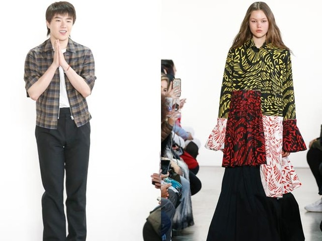 Calvin Luo explores 80s and 90s at New York Fashion Week