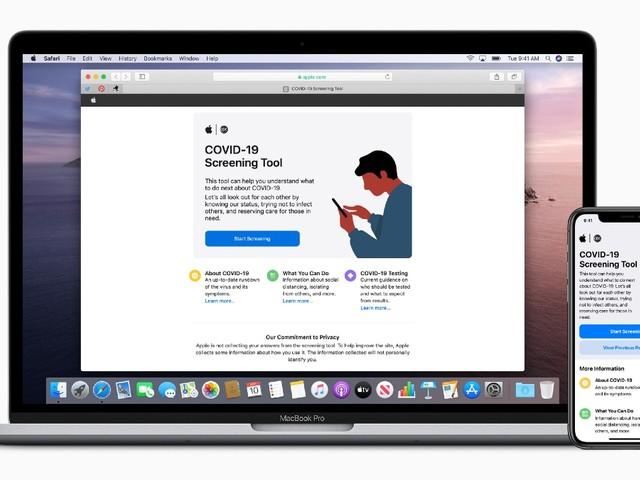 Apple Releases COVID-19 Screening App, Website
