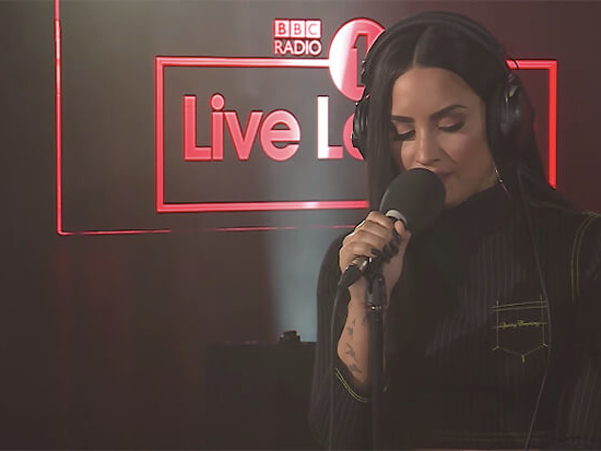 """Demi Lovato Covers Sam Smith's """"Too Good At Goodbyes"""" For Live Lounge"""