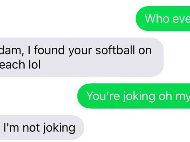 Hayley Robbins Wrote Her Number On A Softball To Score A Date & 6 Years Later, She Got A Text