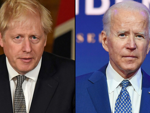 Britain's Boris Johnson presses Joe Biden for new trade deal