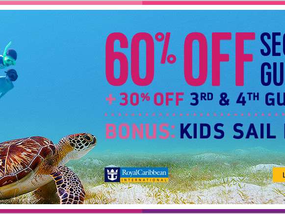 Royal Caribbean offering 60% off second guest, Kids Sail Free and bonus savings in June