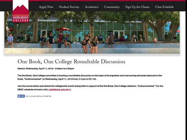 One Book, One College Roundtable Discussion