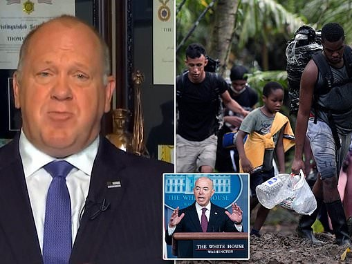 Ex-ICE director says MORE Haitian migrants have been released into US than DHS chief Mayorkas admits