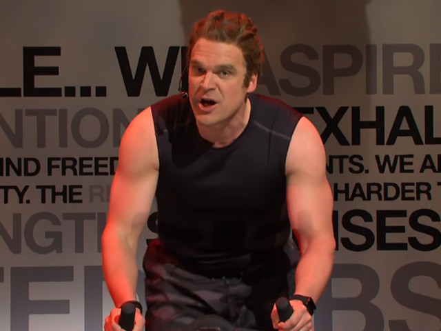 David Harbour Gets Attention for His Buff Arms During 'Saturday Night Live' SoulCycle Spoof