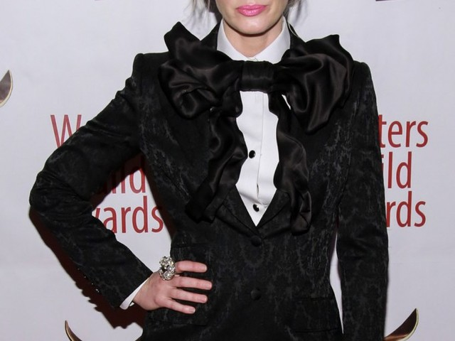 Emily Blunt in Dolce & Gabbana at the Writer's Guild Awards: whimsical or goofy?