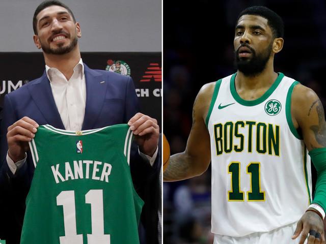 Enes Kanter trolls Kyrie Irving over taking Celtics number