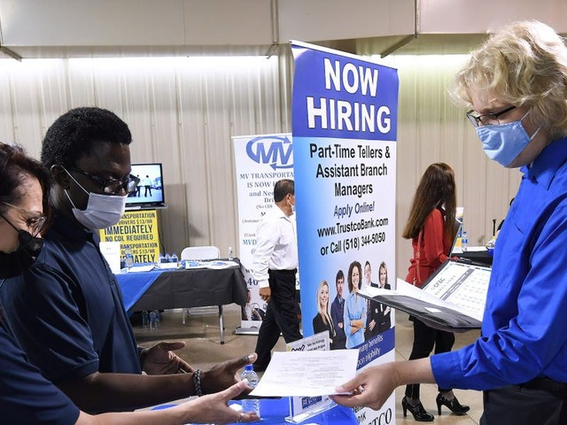US job openings slide for the first time in 6 months in August - and more people quit than ever