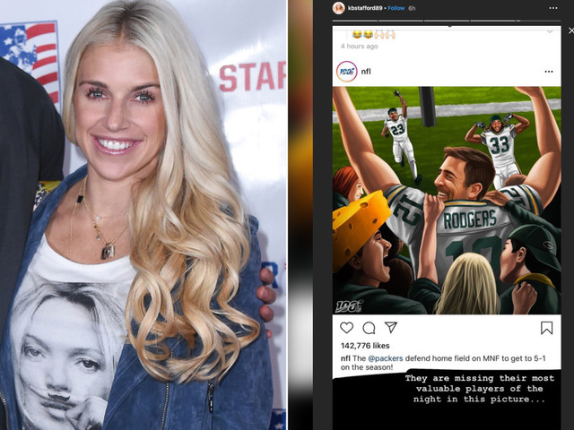 Matt Stafford's wife uses Aaron Rodgers to shade awful refs