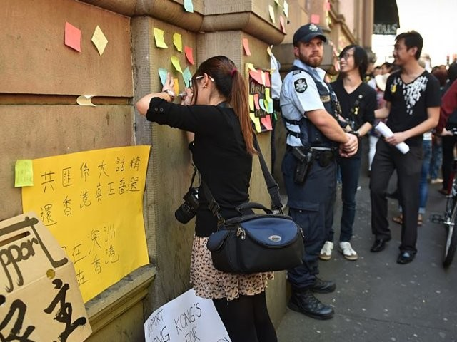 Australian students concerned personal data was shared to Chinese social media after they voiced support for Hong Kong