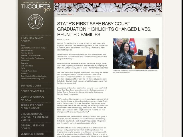 State's First Safe Baby Court Graduation Highlights Changed Lives, Reunited Families