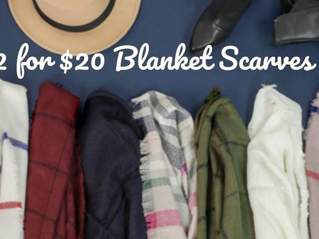 2 Blanket Scarves for $20