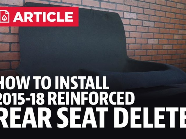 How To Install Reinforced Rear Seat Delete (15-18)