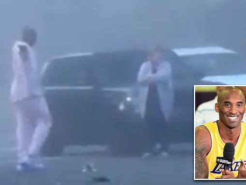 Kobe Bryant is seen comforting drivers at scene of California car crash, six weeks before he died